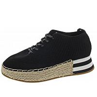 LA STRADA - Halbschuh - knitted black