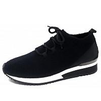 La Strada - La Strada - Sneaker - black wool knitted