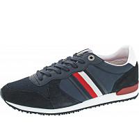 TOMMY HILFIGER - Iconic Mat Mix Runner - Sneaker - desert sky