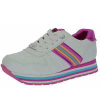TOM TAILOR - Sneaker - white-pink