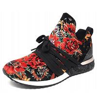 LA STRADA - La Strada - Sneaker - velvet black/ red flower