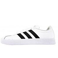 ADIDAS - VL Court 2.0 - sportlicher Schnürer - weiß/schwarz