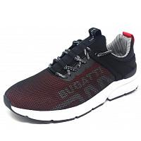 BUGATTI - Denim Kilawea - Sneaker - 1030 schwarz rot