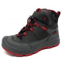 KEEN - Redwood MID WP - Stiefel - steel grey/ red