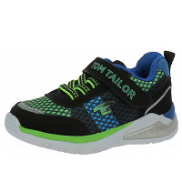 TOM TAILOR - Sneaker - black-lime-royal