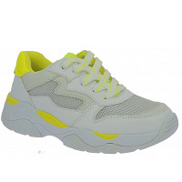 TOM TAILOR - Sneaker - white-neon yellow