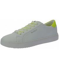 TOM TAILOR - Sneaker - white-neon yellow
