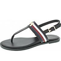 TOMMY HILFIGER - Corporate Flat Sandal - Sandale - black
