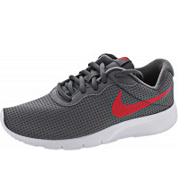 NIKE - Tanjun (GS) - Sneaker - grey-red-wht