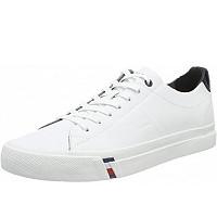 TOMMY HILFIGER - Clean Leather Vulc white - Sneaker - weiss