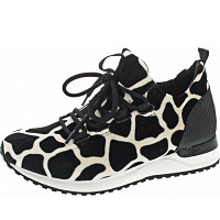 LA STRADA - Sneaker - black white cow velvet