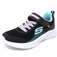 SKECHERS - Microspec - Sneaker - black/ aqua