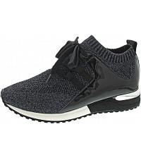 La Strada - Sneaker - blue black knitted