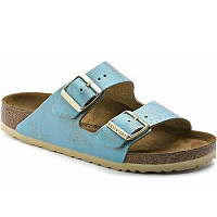 BIRKENSTOCK - Arizona BS washed aqua S - Pantolette - aqua