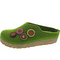 HAFLINGER - Grizzly Kanon - Pantoffel - grasgrün