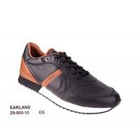 LLOYD - Earland black/nature - Sneaker - schwarz/natur braun