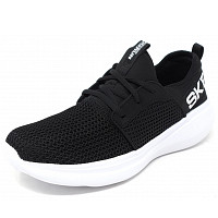 SKECHERS - Go Run - Sneaker - black/ white