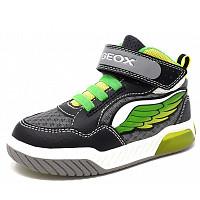 GEOX - J Inek B - Sneaker high - schwarz gelb