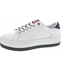 Tommy Hilfiger - Croc Print Flatform Cupso - Sneaker - RWB