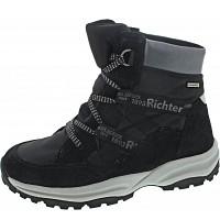 RICHTER - Stiefel - black/oldsilver