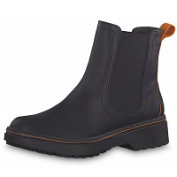 Tamaris - Chelsea Boot - 075 black/ orange