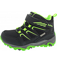 RICHTER - Klettstiefel - black/neon green