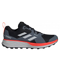 ADIDAS - Trail Laufschuhe - core black/grey two/solar red