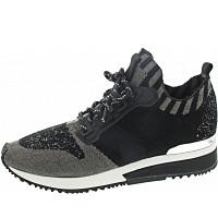 LA STRADA - Sneaker - black-grey wool knitted