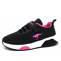 KANGAROOS - Kadee Knit EV - Sportschuh - jet black/daisy pink