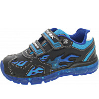 Geox - Android - Kletthalbschuh - black-lt blue
