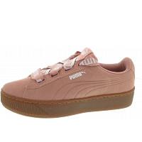 PUMA - Vikky Platform Ribbon Bol - Sneaker - pearl beige-peach beige