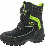 BRÜTTING - LI-Boot Boy High V - Klettstiefel - schwarz-lemon