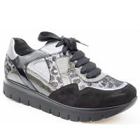 SEMLER - Silvia 15mm schwarz/grau - Sneaker - schwarz Met. grau