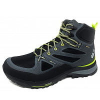 Jack Wolfskin - Force Striker Tex Mid M - Wanderschuh - dark grey lime