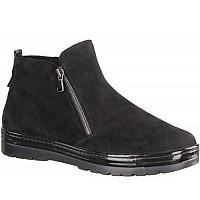 SEMLER - Samtchev./Lack schwarz - Boots - schwarz