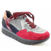 SEMLER - Samt Chev. multi - Sneaker - multi rot/grau