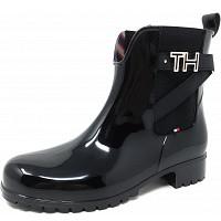 TOMMY HILFIGER - TH Hardware - Gummistiefel - black