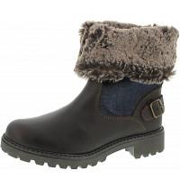 Wrangler - Creek Denim Boot - Boots - dk.brown