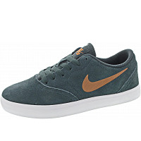 NIKE - SB Check Suede Ess+ (GS) - Sneaker - faded spruce-metallic