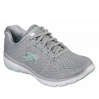 SKECHERS - Sportschuh - Grey/ mint/ white