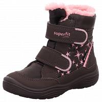 SUPERFIT - Klettstiefel - braun rosa