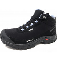 SALOMON - Shelter CS - Wanderschuh - black, stone blue