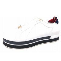 TOMMY HILFIGER - TH Hardware Flatform - Sneaker - black