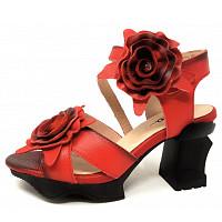 LAURA VITA - Sandalette - rouge