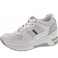 TOM TAILOR - Sneaker - white-silver