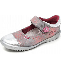 S.OLIVER - S.Oliver - Slipper - grey flower