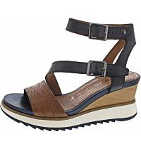 TAMARIS - Sandalette - NAVY/NUT