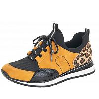 Rieker - Sneaker - honig schwarz natur