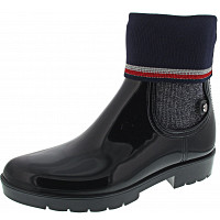TOMMY HILFIGER - Knitted Sock Rain B - Gummistiefel - midnight