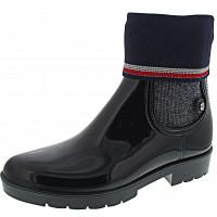 TOMMY HILFIGER - Knitted Sock Rain B - Gummistiefel - midnight